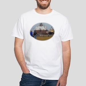 Mesabi Miner arriving Duluth White T-Shirt