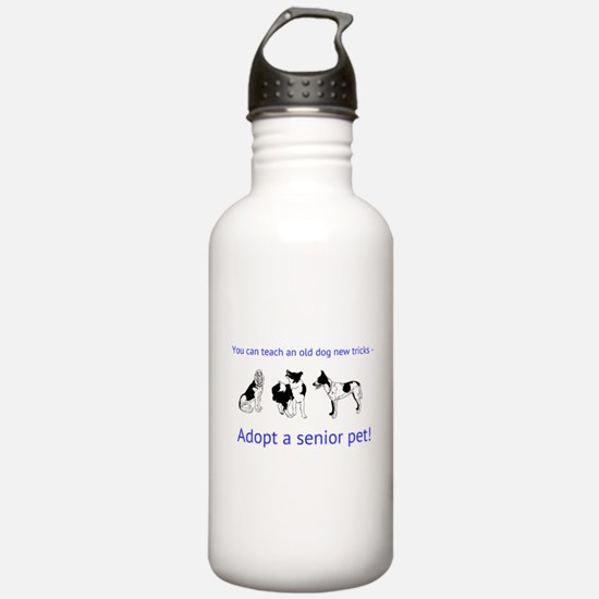 Adopt a senior pet Water Bottle