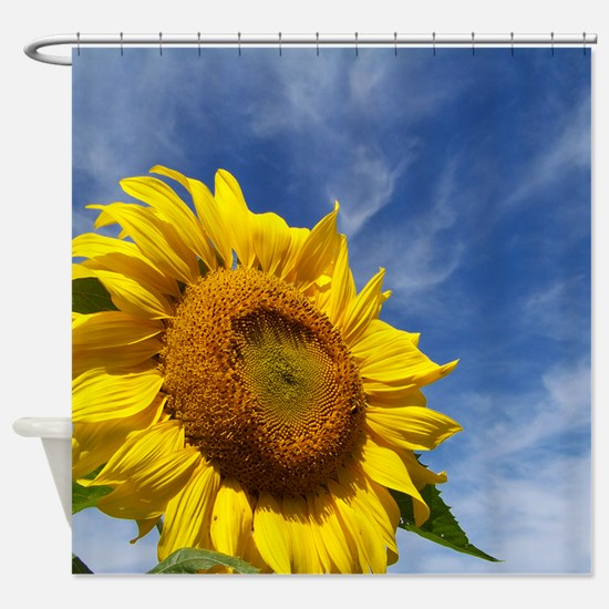 Sunflower Reaching for the Sky Shower Curtain