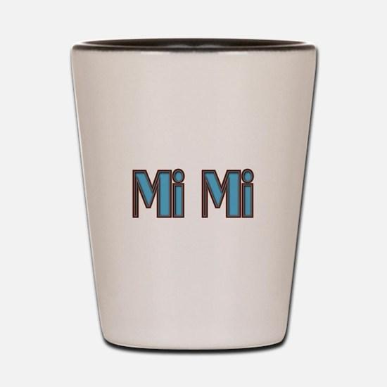 Mimi aqua and brown Shot Glass