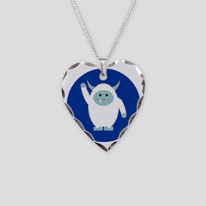 Lil Yeti Necklace Heart Charm