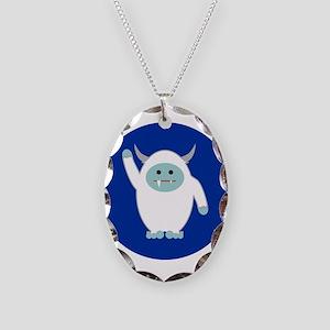 Lil Yeti Necklace Oval Charm