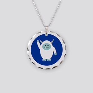 Lil Yeti Necklace Circle Charm
