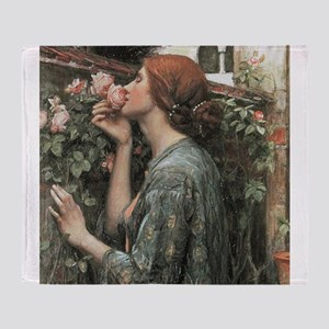 The Soul of the Rose by Waterhouse Throw Blanket