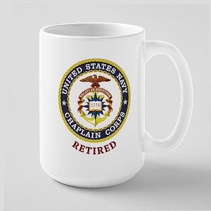 Retired US Navy Chaplain Large Mug