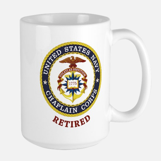 Retired US Navy Chaplain Large Mug