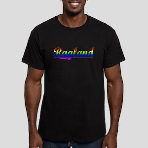 Ragland, Rainbow, Men's Fitted T-Shirt (dark)
