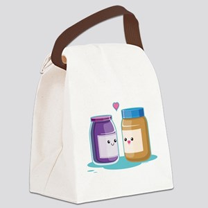 Peanut Butter and Jelly Canvas Lunch Bag