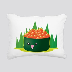 Ikura Sushi Rectangular Canvas Pillow