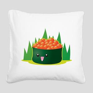 Ikura Sushi Square Canvas Pillow