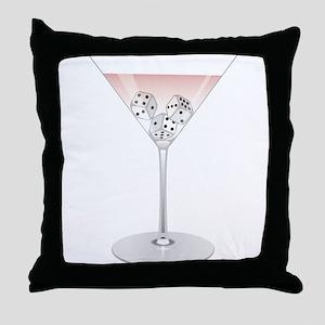 Bunco Martini Cocktail Throw Pillow