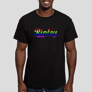 Ripley, Rainbow, Men's Fitted T-Shirt (dark)