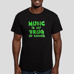 Music Is My Drug (grn) Men's Fitted T-Shirt (dark)