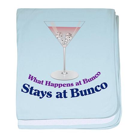 What Happens at Bunco baby blanket