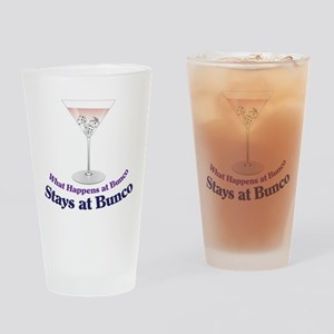 What Happens at Bunco Drinking Glass