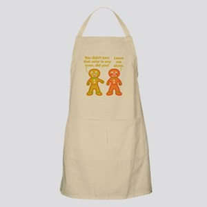 Funny Gingerbread Fake Tan Christmas Apron