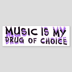 Music Is My Drug (pr) Sticker (Bumper)