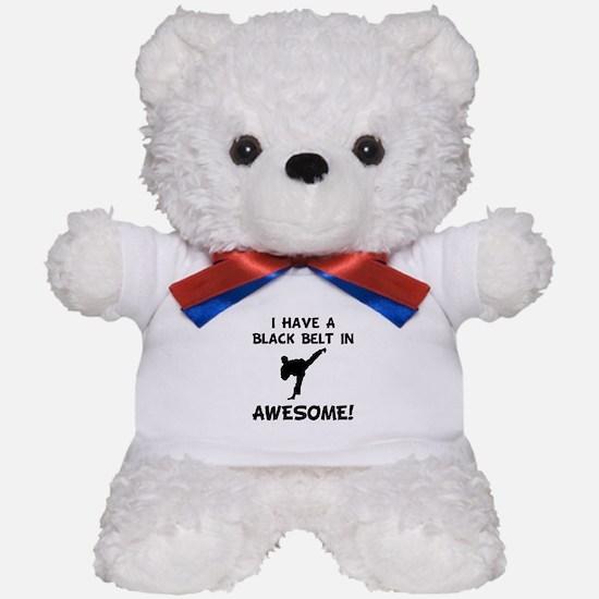 Black Belt Awesome Teddy Bear