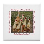 Duck ChristmasTile Coaster