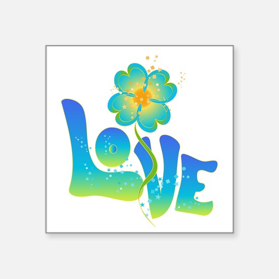 "Max Love Square Sticker 3"" x 3"""