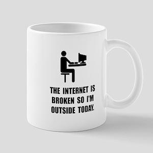Broken Internet Outside Mug