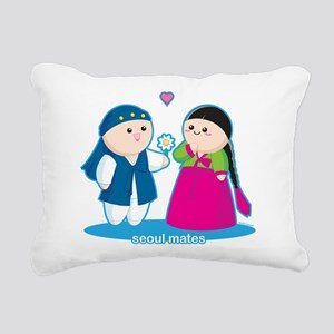 Seoul Mates Rectangular Canvas Pillow