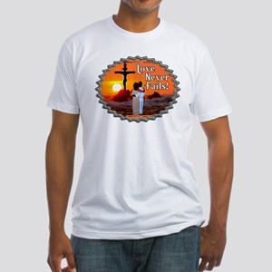 Love Never Fails! Fitted T-Shirt