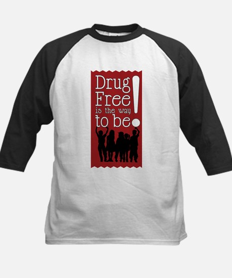 Red Ribbon Drug Free Kids Baseball Jersey