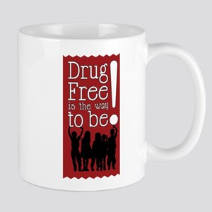 Red Ribbon Drug Free Mug