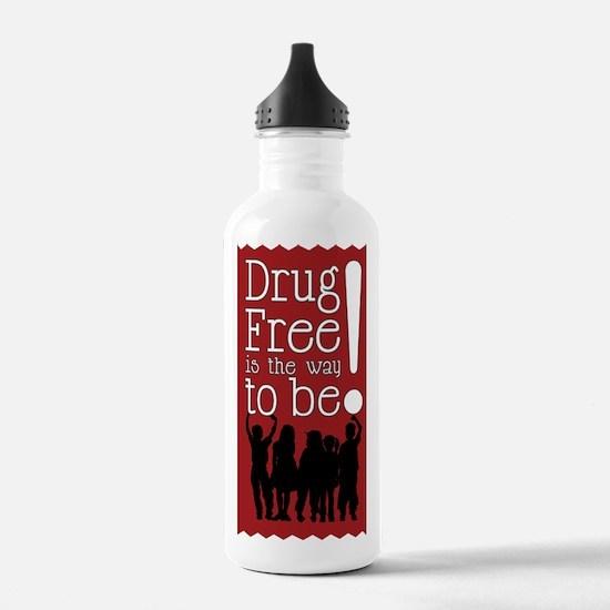 Red Ribbon Drug Free Water Bottle