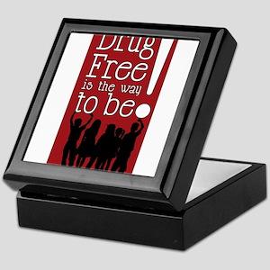 Red Ribbon Drug Free Keepsake Box