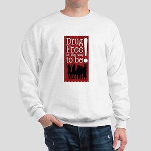 Red Ribbon Drug Free Sweatshirt