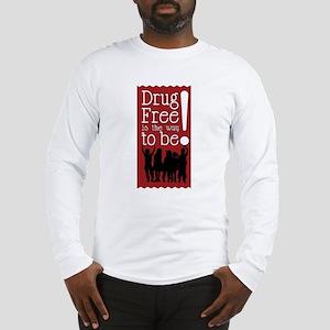 Red Ribbon Drug Free Long Sleeve T-Shirt