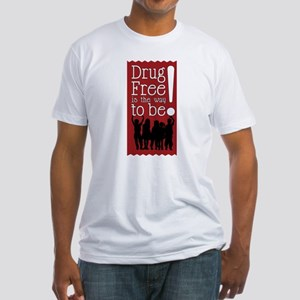 Red Ribbon Drug Free Fitted T-Shirt