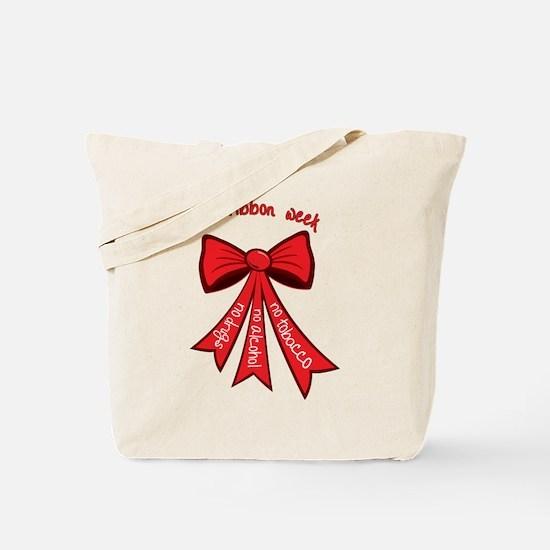 Red Ribbon Week Tote Bag