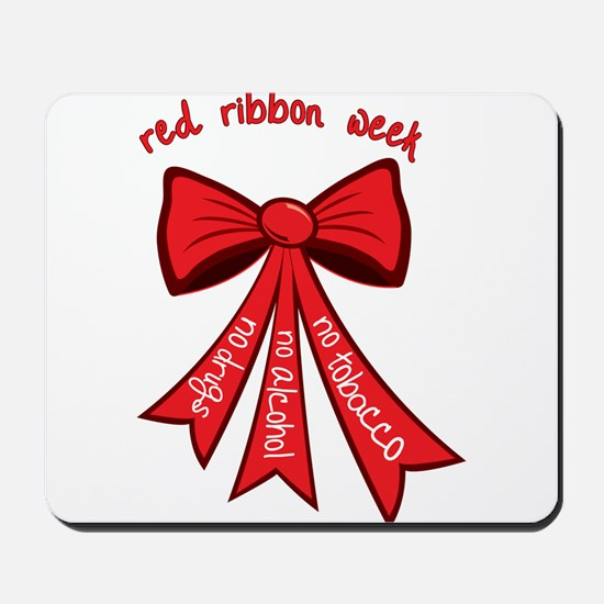 Red Ribbon Week Mousepad