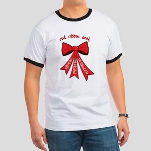 Red Ribbon Week Ringer T