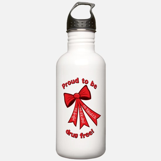 Proud to be drug free! Water Bottle