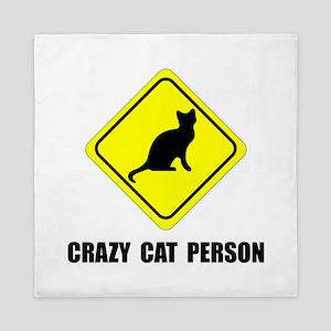 Crazy Cat Person Queen Duvet