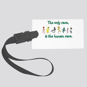 The Human Race Large Luggage Tag
