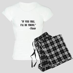 Fall Floor Quote Women's Light Pajamas