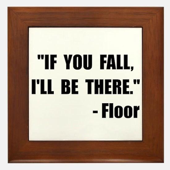 Fall Floor Quote Framed Tile