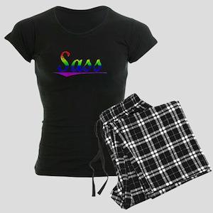 Sass, Rainbow, Women's Dark Pajamas