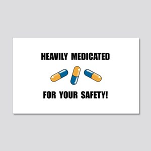 Heavily Medicated 20x12 Wall Decal