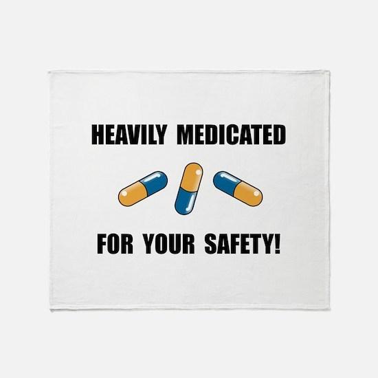 Heavily Medicated Throw Blanket