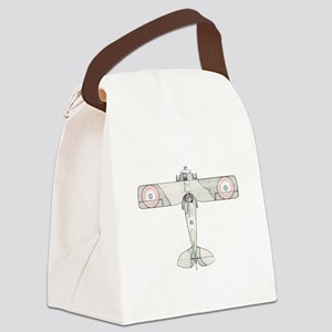 SPAD S.VII Biplane -Colored Canvas Lunch Bag
