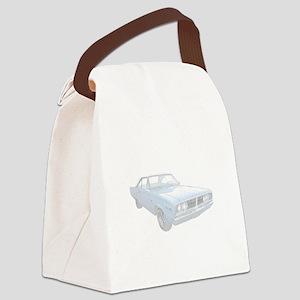 DodgeCoronet-blue Canvas Lunch Bag