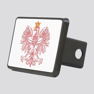 Polish Eagle Outlined In Red Rectangular Hitch Cov