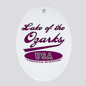 Lake of the Ozarks Oval Ornament