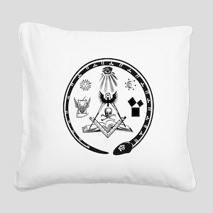 Masonic Logo Square Canvas Pillow